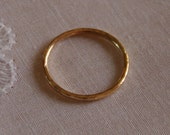 Thin gold ring 16g - Gold Thumb ring - Thin gold band - Rose Gold - Sterling Silver Gold stacking ring - 14k gold filled - Color Stays