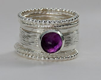 Amethyst Ring, Amethyst Rings, Cocktail Rings, Sterling Silver Rings, Statement Ring, Cocktail and Statement, Statement Rings