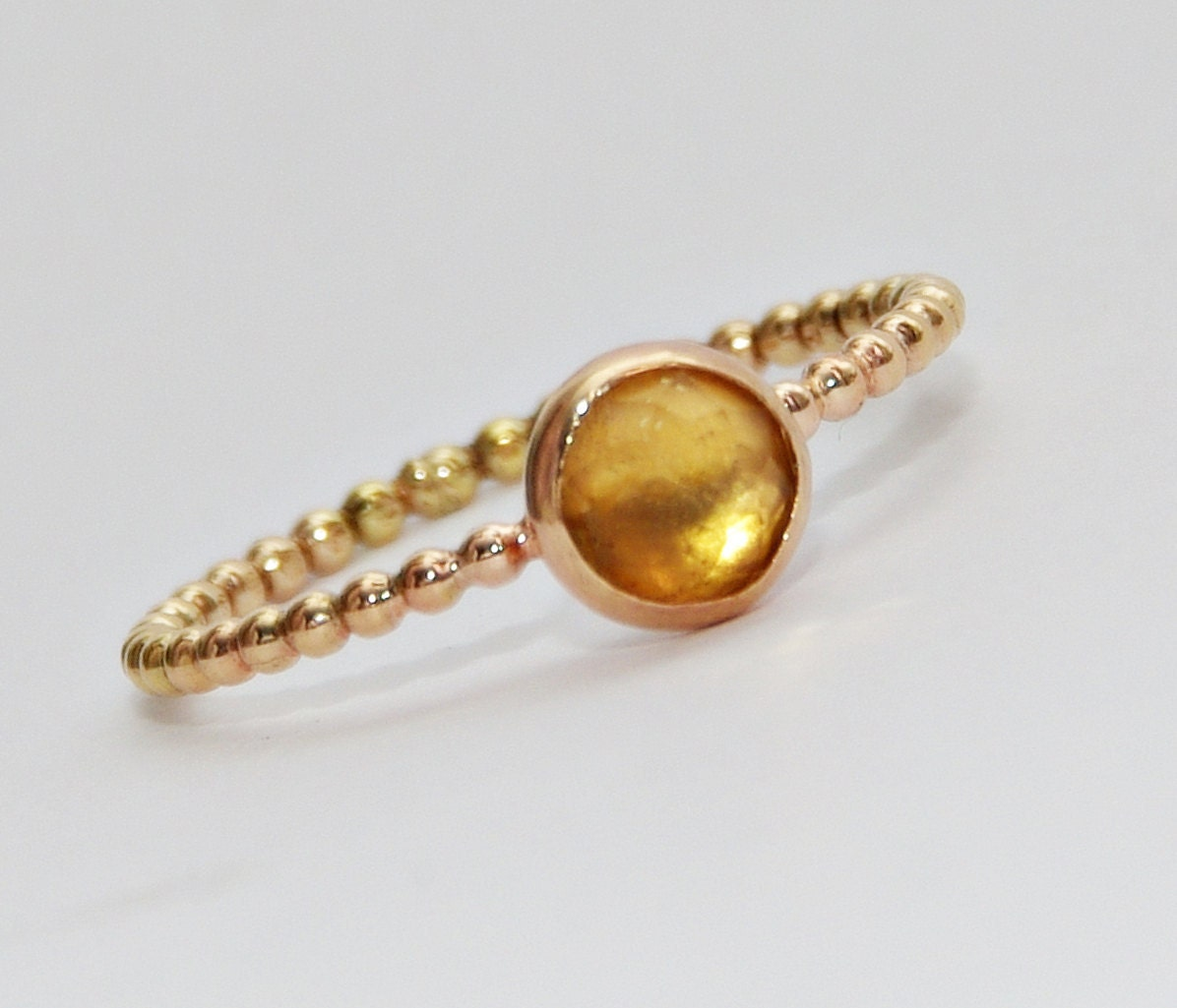 Gemstone Ring Gold Citrine Ring Citrine Gemstone By