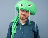 Fleece Jellyfish Hat - Green