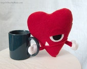 Small Plush Heart Cyclops
