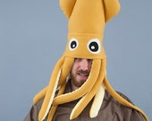 Squid Hat Plush - Large Mustard Yellow