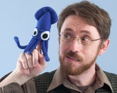 Mini Squid Plush Blue or your choice of color