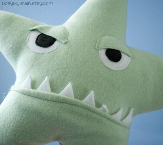 Angry Starfish Plush Small Pillow Light Green