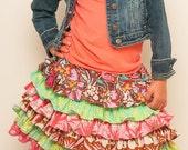 Custom Boutique Amy Butler fabric Soul Blossom Nie Nie Skirt DIY Design it Yourself  Girl 2 3 4 5 6 7 8
