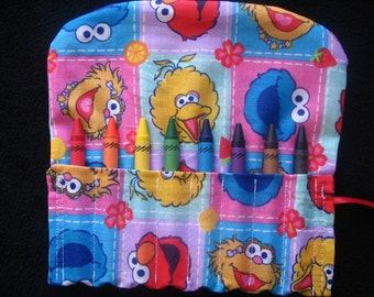Sesame Street Characters Travel Crayon Holder