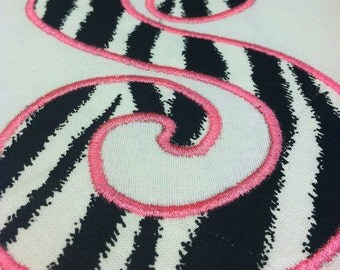 "Zebra Print 4"" Iron On Applique Letters"