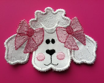 Iron On Applique Poodle