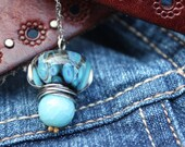 Sterling Boro Glass necklace
