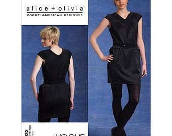 Vogue Dress Pattern ~ Vogue 1122 ~ Little Black Dress Pattern ~ Alice + Olivia ~  Size 12-18