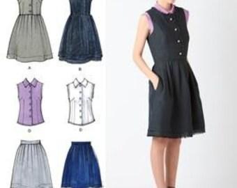 Cynthia Rowley Dress, Skirt, Blouse Pattern Simplicity 2215