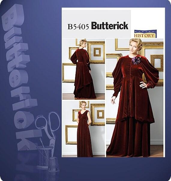 Edwardian Dress and Jacket Historical Costume Pattern Butterick 5405 Sizes 6-12