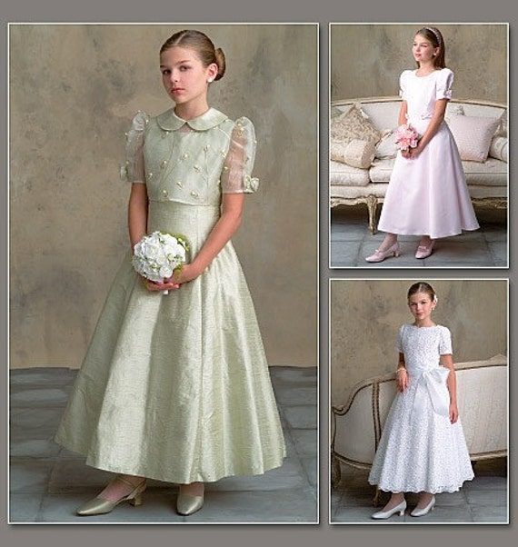 Vogue 7845 Flower Girl Dress Pattern Size 7810