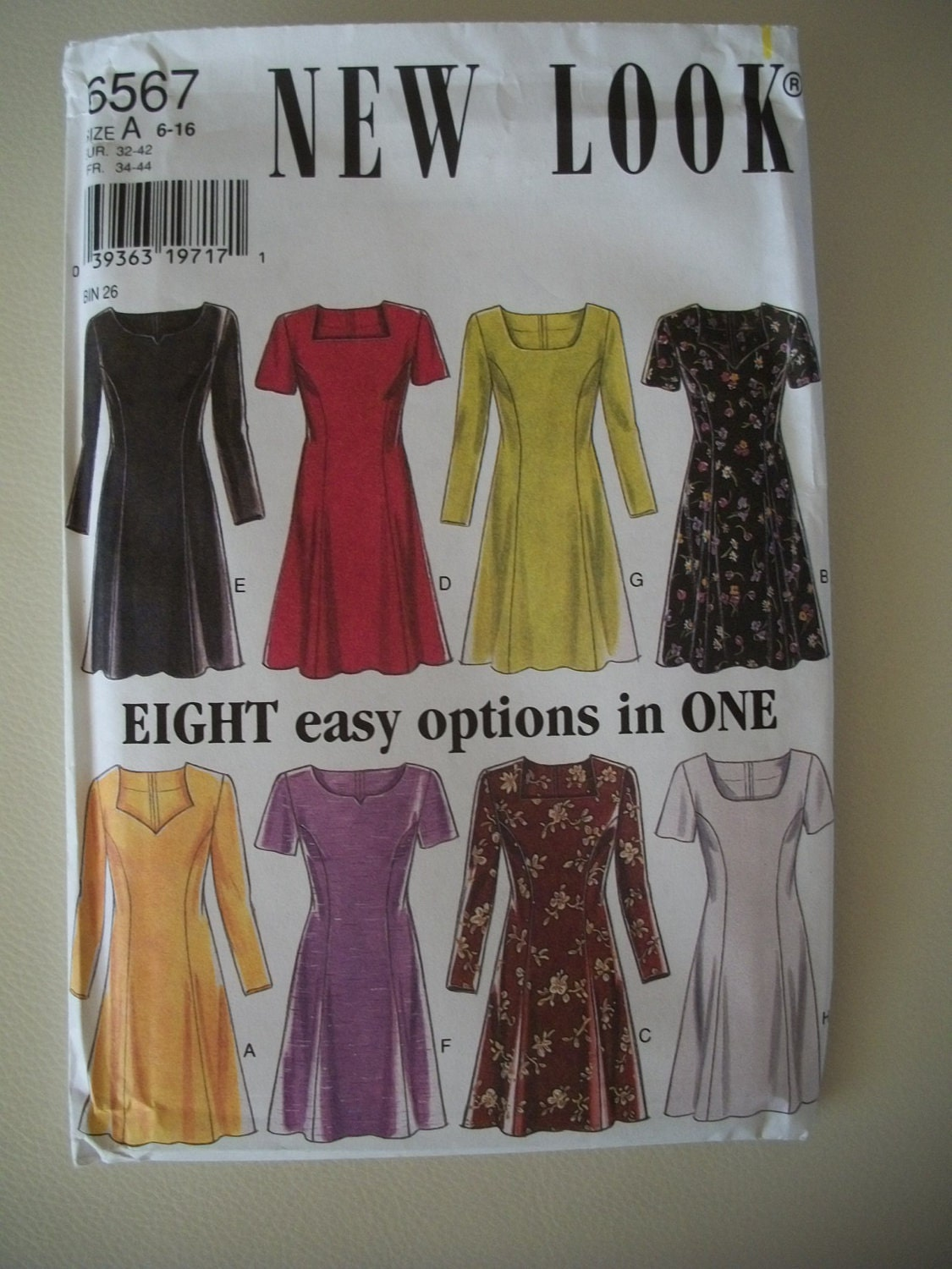 New Look Easy A Line Dress Pattern 6567 Size 6 16