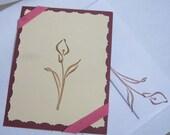 Elegant Lily Notecard and matching envelope