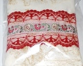 Pillow of the Heart with herbs and crystals.