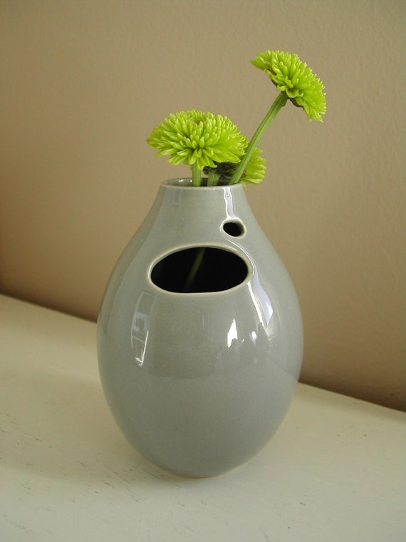 seconds sale - small circles cut out vase