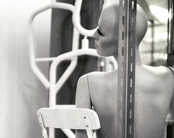 Black and White Mannequin Photo Secret Society No16