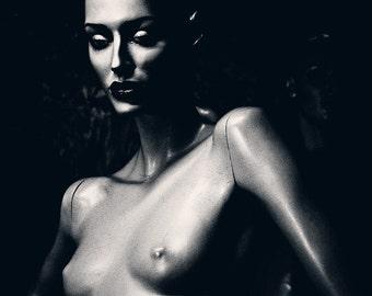 Black and White Female Nude Erotic Photography Mannequin Art - Underground No6