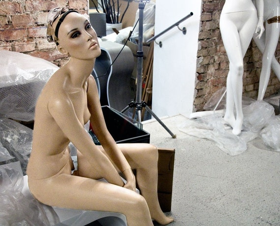 Fine Art Photography Print Nude Female Mannequin BACKSTAGE