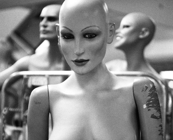 Black and White Photography Art Print Mannequin Art - Secret Society No1