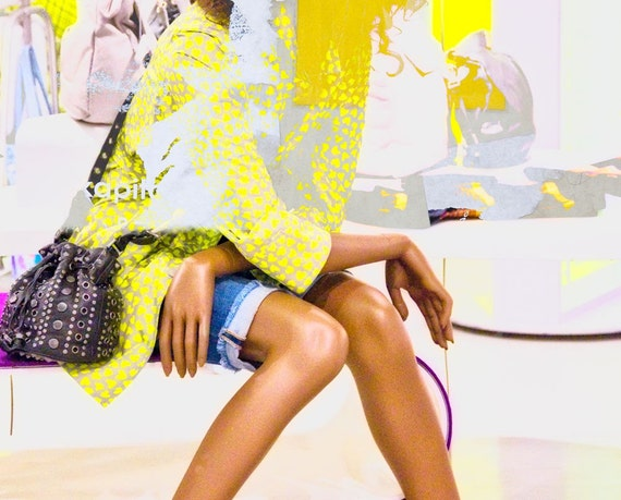Abstract Mannequin Fashion Photography Yellow Photo Collage Mannequin Legs - BREAK