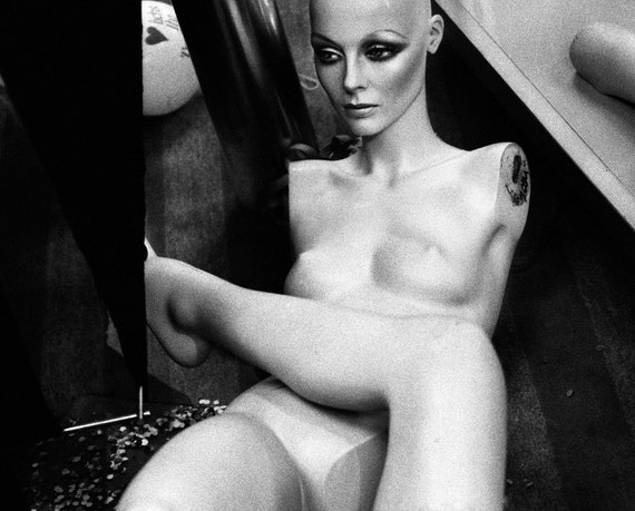 Black and White Nude Mannequin Photo Bizarre Art Photography - Secret Society No4