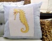 Yellow Seahorse 18x18  Decorative Pillow Cover, Throw Pillow ,Toss Pillow, Accent Pillow