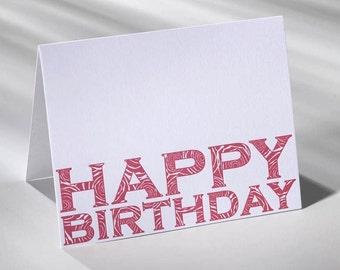 Happy Birthday Card / 004 - Letterpress printed