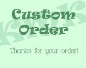 Custom Listing for Tatiana