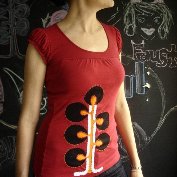 Gland Babydoll Tshirt Hand Embellished Applique Medium