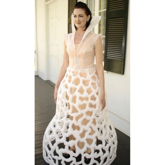 Mushroom Art Dress Made Of Recycled Materials Radical By