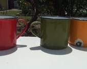 Funky and Beautiful Enamel Camp Cups
