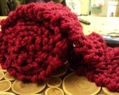 Long and Cozy Red Drop Stitch Scarf