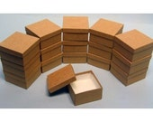 100 Pack Kraft Color Deep Cotton Filled Jewelry Retail Gift Boxes 3.5 X 3.5 X 2 Inch Size Wholesale