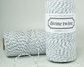 240 Yards Eco Friendly Oyster grey and White Divine Twine
