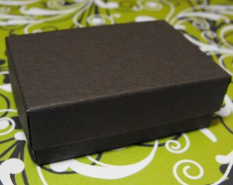 10 Pack Chocolate Brown 3.25X2.25X1 Inch Cotton Filled Jewelry Gift Retail Boxes