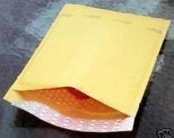 25 Pack Bubble Lined 4X8 Inch Size Mailing Envelopes Wholesale Packaging
