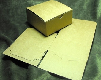 20 Pack Kraft Brown Paper Tuck Top Style Packaging Retail Gift Boxes 4X4X2 Inch Size