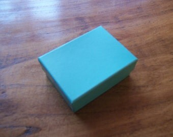 50 Pack Teal Blue Cotton Filled 11 Size Cotton Filled Boxes 1  7/8 Inch by 1  1/4 inch by 5/8 Inch Size