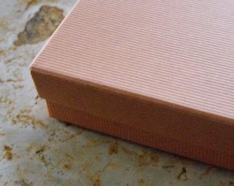 20 Pack Mango Orange 3.5X3.5X1 Inch Sized Cotton Filled Jewelry Presentation Boxes