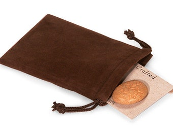 50 Pack Chocolate Brown Velvet Drawstring Bags great for Weddings, Party favors, Jewelry, Etc