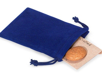 100 Pack Blue Velvet Drawstring Bags great for Weddings, Party favors, Jewelry, Etc