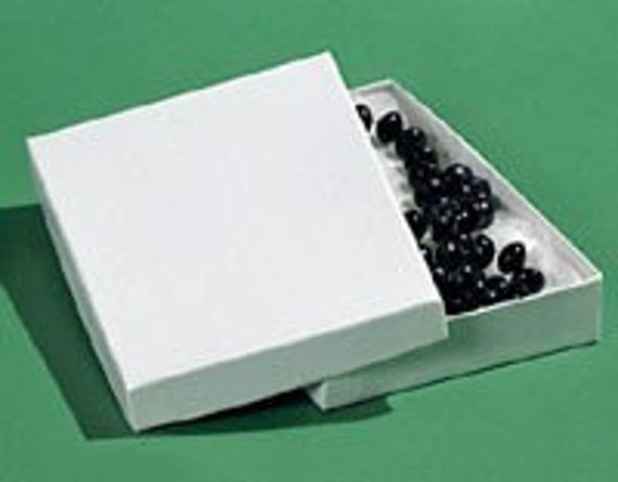10 Pack Cotton Filled white Color Jewelry Gift and Retail Boxes 5.25X 3.75X 1 Inch Size