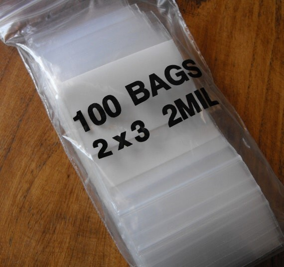 100 Pack White Block Zip Top Poly Pags 2 x 3 Inch Size Great for Beads,collectibles,stamps, etc.