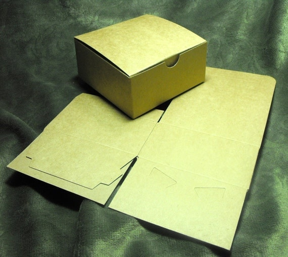 20 Pack Kraft Brown Paper Tuck Top Style Packaging Retail Gift Boxes 3X3X2 Inch Size