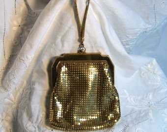Vintage Whiting Davis Gold Mesh Purse