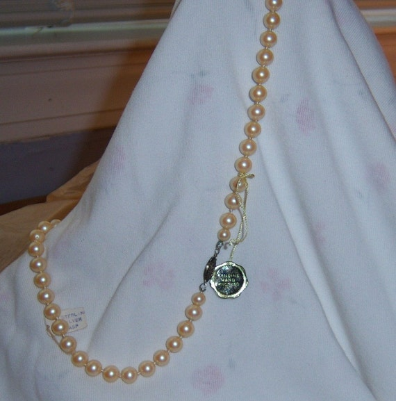 New Old Prestige Pearl Necklace Sterling Clasp