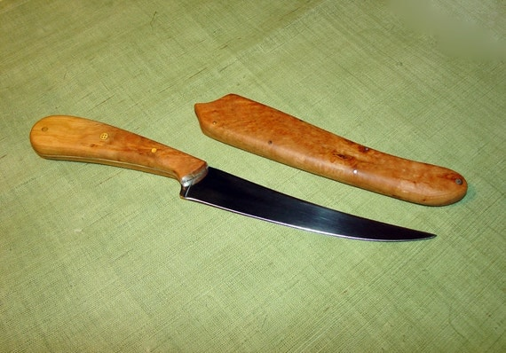 Fillet Knife - The Special Fisherman, Solid Cherry Burl