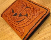 Floridian-Style, Sheridan Hand Leather-Tooled Wallet, Eco-Friendly